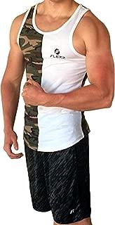Camo Muscle Tanktop Stringer Mens Bodybuilding Vest, Racerback Gym Fitness Tank Top