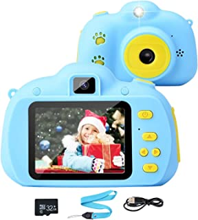 Tobeape Kids Camera, 8.0MP Rechargeable Kids Digital Camera with 2.4 Inch 1080P Screen, Front and Rear Lens Child Camcorde...