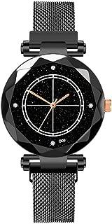 Fashion Women's Bling Starry Sky Wristwatch Magnetic Diamond Shining Dial Buckle Mesh Belt Quartz Bracelet Watch
