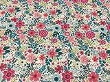 telas liberty, telas de algodón, telas por metros, telas de FLORES FUCSIA, telas infantiles, telas de labores, 1 metro x 150 cms, ENVIOS GRATUITOS