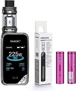 AUTÉNTICO SMOK X PRIV Kit 225W TFV12 PRINCE 2mL Tank Cigarrillo electrónico (Arma de Fuego) SMOK XPRIV con 2 X EFEST 3000 mAh Batería y cargador de 18650 batería PEACEVAPE™ Sin Tabaco - Sin Nicotina