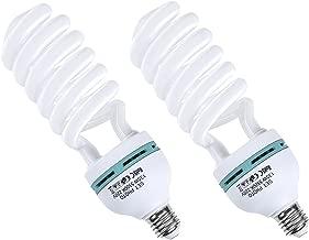 Amzdeal Lampadina Fotografia LED con 2 pezzi 220v E27 Illuminazione Continua Lampada studio CFL 5500K Luce giorno per Studio Fotografico Professionale