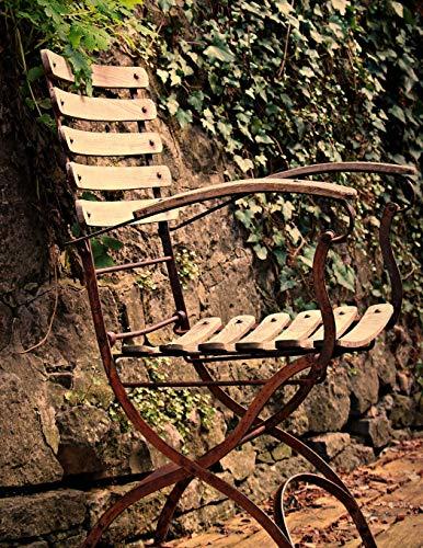 Notebook: Chair seating furniture outdoor out ivy fern garden design gardening outdoor relaxing relax…