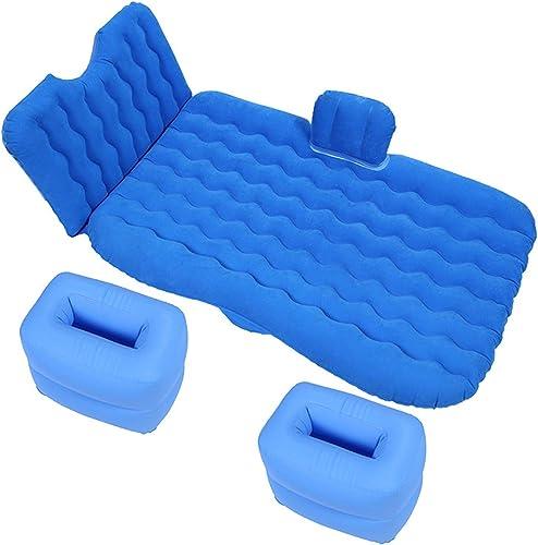Xiao Tian Lit Gonflable Confortable de siège arrière portatif de Voiture, approprié au Camping, Voyage, Bleu