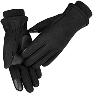 Winter Gloves for Women Touchscreen Anti-slip Soft Warm Fleece Water-resistant Windproof Thermal in Cold Weather for Walking Dog Running Cycling