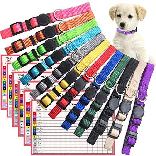 Blaoicni Puppy ID Collars w/ Breakaway Safety