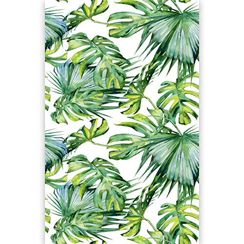murando Fotomurales Hojas Tropicales Monstera 150x280 cm Papel pintado tejido no tejido Decoración de Pared decorativos Murales moderna de Dise?o Fotográfico Exotico Blanco Verde b-B-0295-am-a