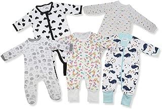 Kawaii Baby Cotton Bodysuits and Sleepers,  Baby Bodysuit,  Cotton Sleepers for Baby & Infant - Pack of 5.