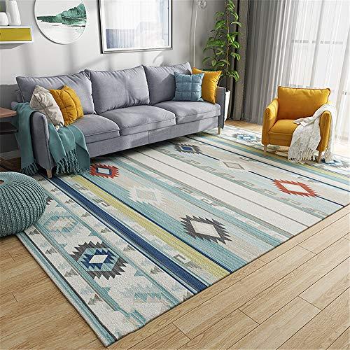 MLKUP Printed Rectangular Skin-Friendly Floor Mat Bohemian Style Wear-Resistant Coffee Table Bedroom Bedside Foot Pad Suitable For Bedroom Bathroom Living Room Hotel Kindergarten 80x120cm