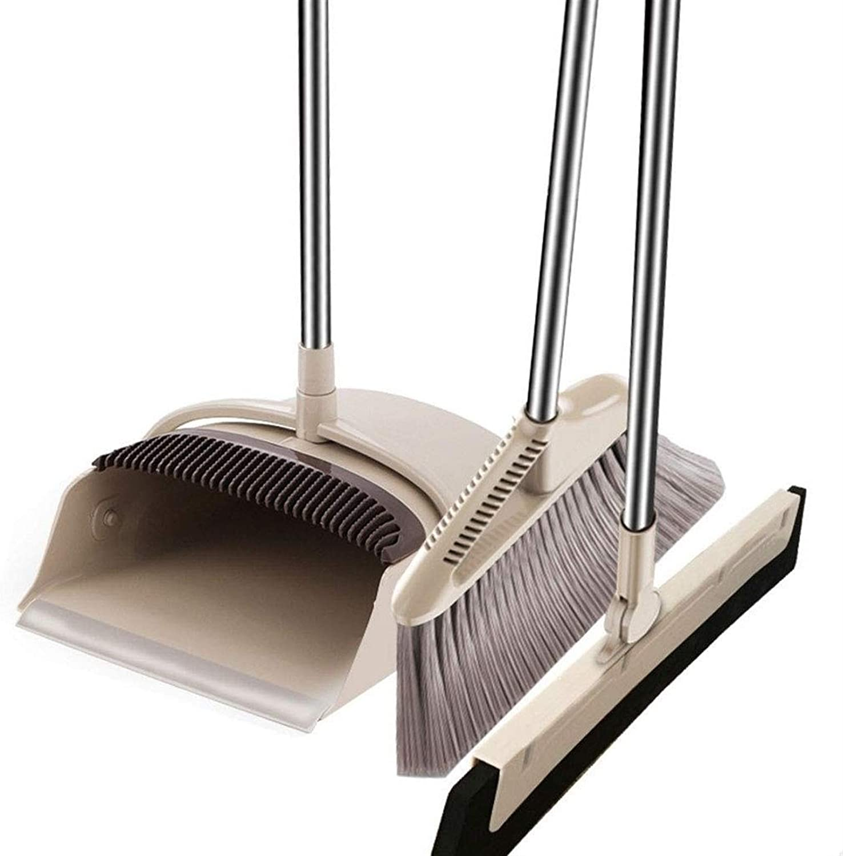 HIZLJJ Sale Recommendation price Broom Dustpan Floor Squeegee Set Handle Long U Detachable