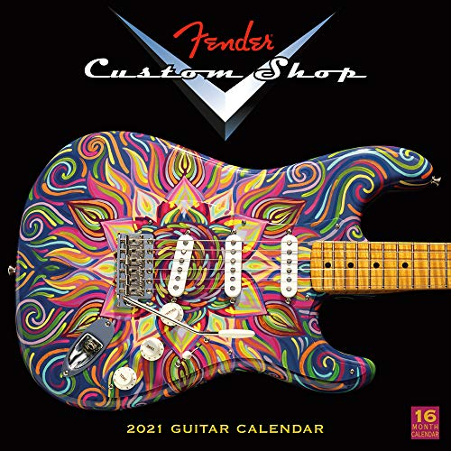 Fender Custom Shop Guitars 2021 Calendar