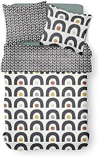 TODAY Housse de Couette et taie d'oreiller 100% Coton 57 Fils 4.19-220 x 240 cm