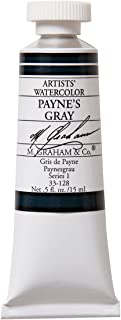 M. Graham 1/2-Ounce Tube Watercolor Paint, Paynes Gray (33-128)