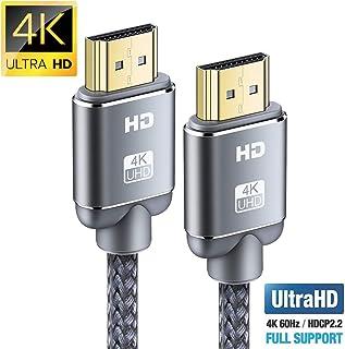Câble HDMI 4K 2m – Snowkids Câble HDMI 2.0 Haute Vitesse par Ethernet en Nylon..