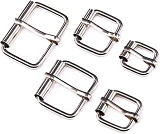 Swpeet 50 Pcs Assorted Multi-Purpose Sliver Metal Roller Buckle Ring for Hardware Belt Bags Ring Hand DIY Accessories -13mm,15mm, 20mm, 25mm, 32mm