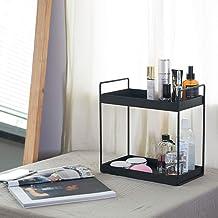 shiok decor® 2-Tier Standing Rack, Kitchen/Bathroom Countertop Storage Shelf Organizer, Black