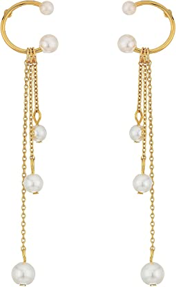 Rebecca Minkoff - Linear Triple Drop Sphere Earrings