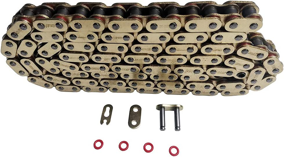 JINFANNIBI 428 Drive Chain 130 Links Mast Deluxe Max 67% OFF O-Ring With Connecting