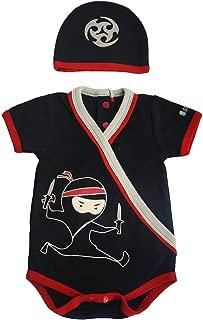 Sozo Baby Boys Ninja Bodysuit and Hat Set