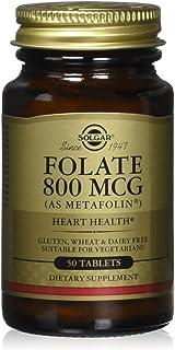 SOLGAR Folate 800 Mcg Tablets, 50 CT