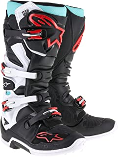 Alpinestars Tech 7 Boots-Cyan/Black/Red-14