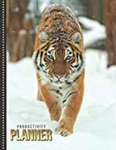 Productivity Planner: Fierce Tiger in Snow - Animal Art Photo / Undated Weekly Organizer / 52-Week Life Journal With To Do...