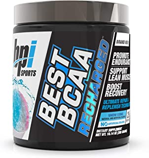BPI Sports Best BCAA Recharged for Men & Women, Snow Cone, 10.14 oz.