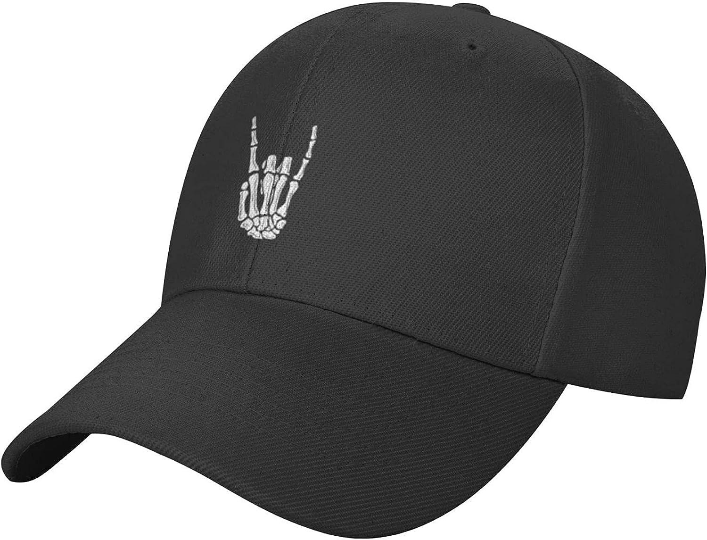 QUWTRIH Skull Hat Adjustable Baseball Cap Snapback Dad Hat for Unisex Adult - Black