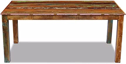 Dining Table Coffee Table Photo Frame Display Stand Living Room Furniture Solid Reclaimed Wood 180x90x76 cm/72.8x35.5x30 inch