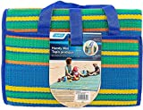 Camco Handy Mat with Strap, Perfect for Picnics, Beaches, RV and Outings, Weather-Proof and Mold- Mildew Resistant (Blue/Green - 60' x 78') - 42805