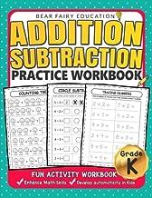 Addition Subtraction Practice Workbook .: Kindergarten books, Activity Workbook for Kids, Kindergarten Math Skills PDF