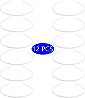 12 Pcs Metal Headbands for Women DIY Craft Costumes Silver Blank Wire Frame Hair Gauge Tiara Base Head Band