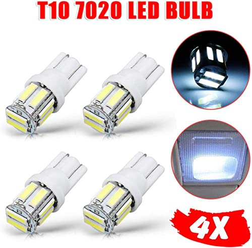 OZSTOCK 10 LED W5W Wedge Tail Side Car Lights Turn Parker Bulb White T10 7020 SMD 4PCS