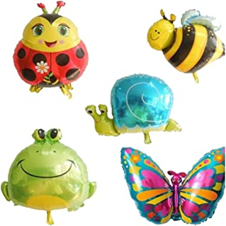 5pcs Insect Animal Foil Balloons Mylar Balloons for Birthday Party Favor Decorations
