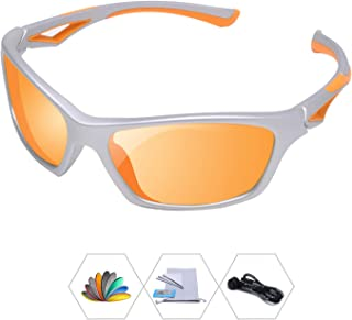 AODUOKE Sports Polarized Sunglasses For Kids Children...