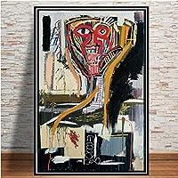 """ジャンミシェルバスキアグラフィティアート絵画ポスターリビングルームの家の装飾のためのモダンなキャンバスの壁の芸術30x40cm12""""x16""""(フレームなし)"""