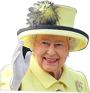 CHENSTAR Drottning Elizabeth fönsterdekaler för fordon, fönsterklistermärke påven rolig bilfönster fastklistrande bilklist...