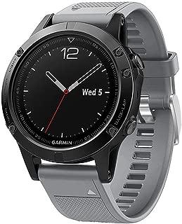Kartice Compatible with Garmin Fenix 5/ Fenix 6/ Fenix 6 Pro/Fenix 6 Sapphire Band 22mm Silicone Smartwatch Replacement Sport Bands with Metal Clasp