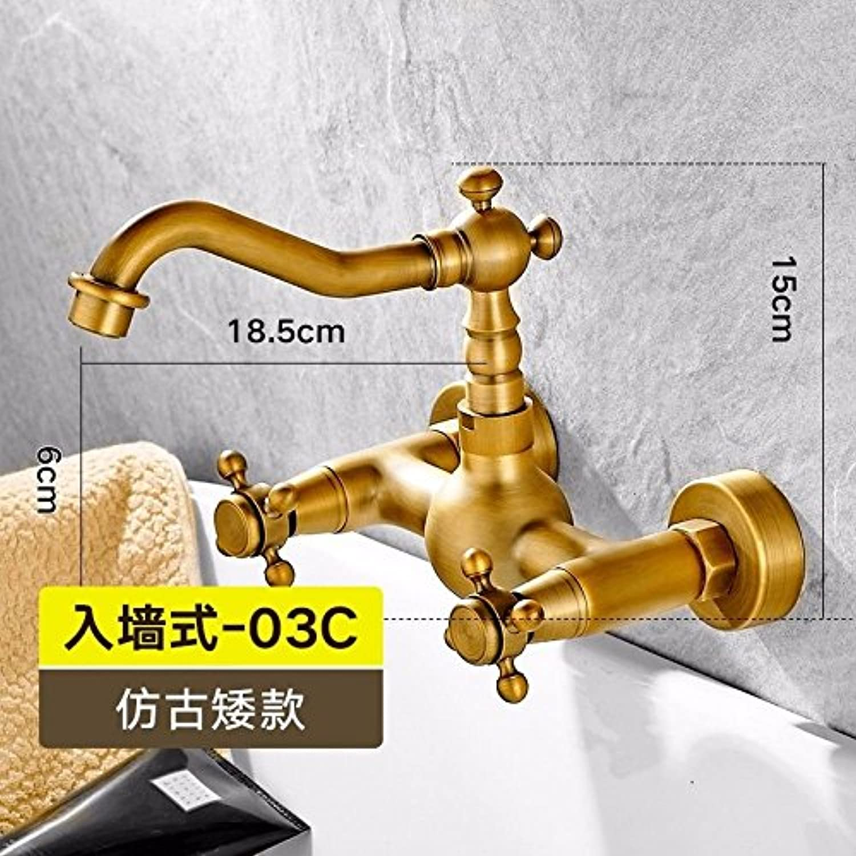 Gyps Faucet Basin Mixer Tap Waterfall Faucet Antique Bathroom Mixer Bar Mixer Shower Set Tap antique bathroom faucet Wall Mounted faucet hot and cold double double the low,Modern Bath Mixer Tap Bat