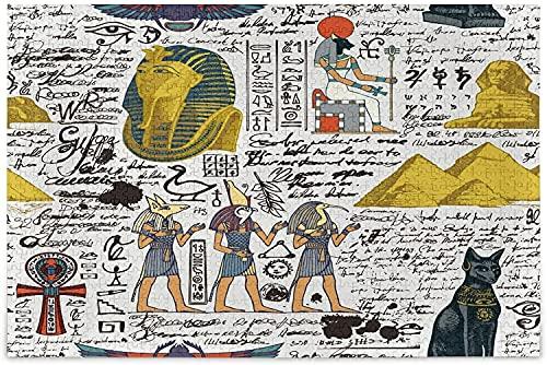 Rompecabezas de dioses egipcios con temática del antiguo Egipto para adultos, 1000 piezas, rompecabezas de madera, educativo, intelectual, juego divertido de descompresión para adultos y niños
