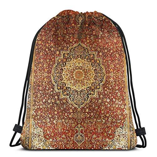 Khorasan Antik Pern Teppich Print Variety Gesicht Handtuch Kordelzug Rucksack Sporttasche Gym Sack Stil 2