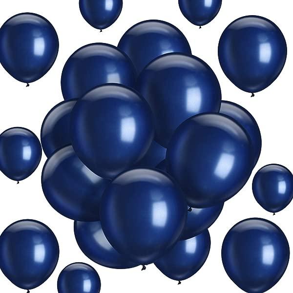 Hestya 海军蓝气球 100 包 10 英寸派对气球海军蓝乳胶气球婚礼生日派对新娘淋浴派对装饰海军蓝 10 英寸