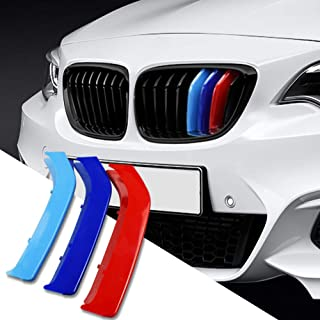 N//H KUNGKIC M-Colored Stripe Grille Insert Trims M Sport Grille Insert Trim Compatible with BMW 4 Series F32 F33 9-Beam Sport 2014-2019 Accessories