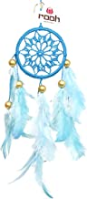 Rooh Crochet Dream Catcher Windchime for Home Decor Accents, Wall Hangings, Car, Outdoor, Bedroom, Meditation Room, Temple (Sky, L-5.3xH -20 cm)