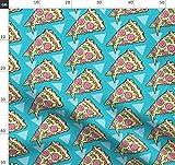 Pizza, Snacks, Essen, Dreiecke, 80 S Stoffe - Individuell