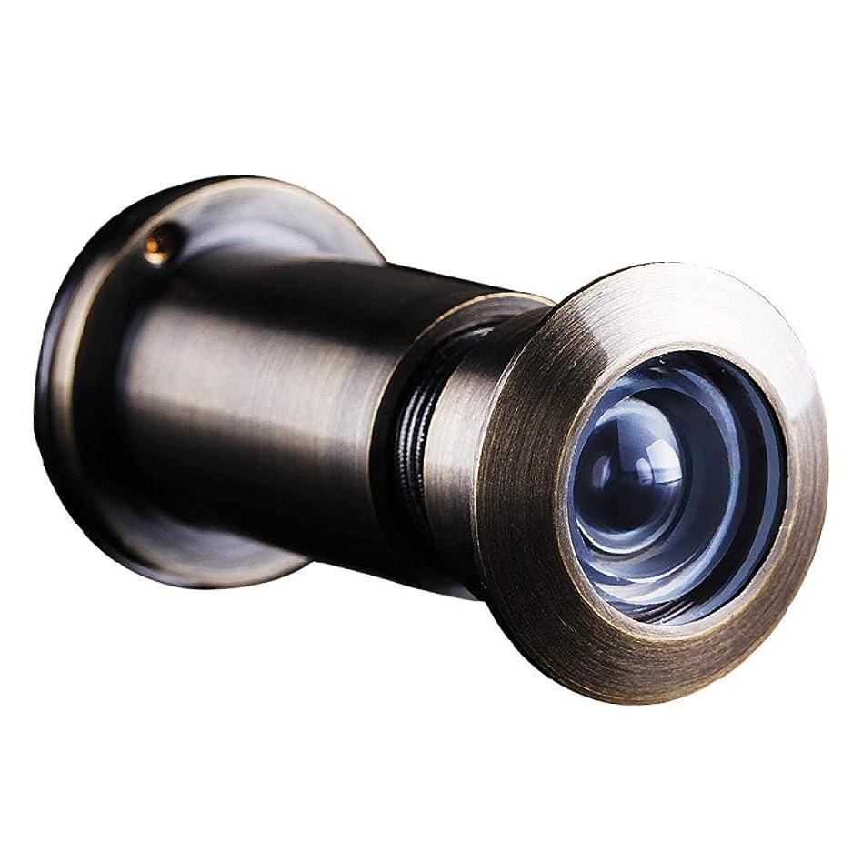 オーナー芝生無効にするHSBAIS 真鍮 のぞき穴、プライバシーカバー、220 度広角HDドア穴のぞき穴,Bronze