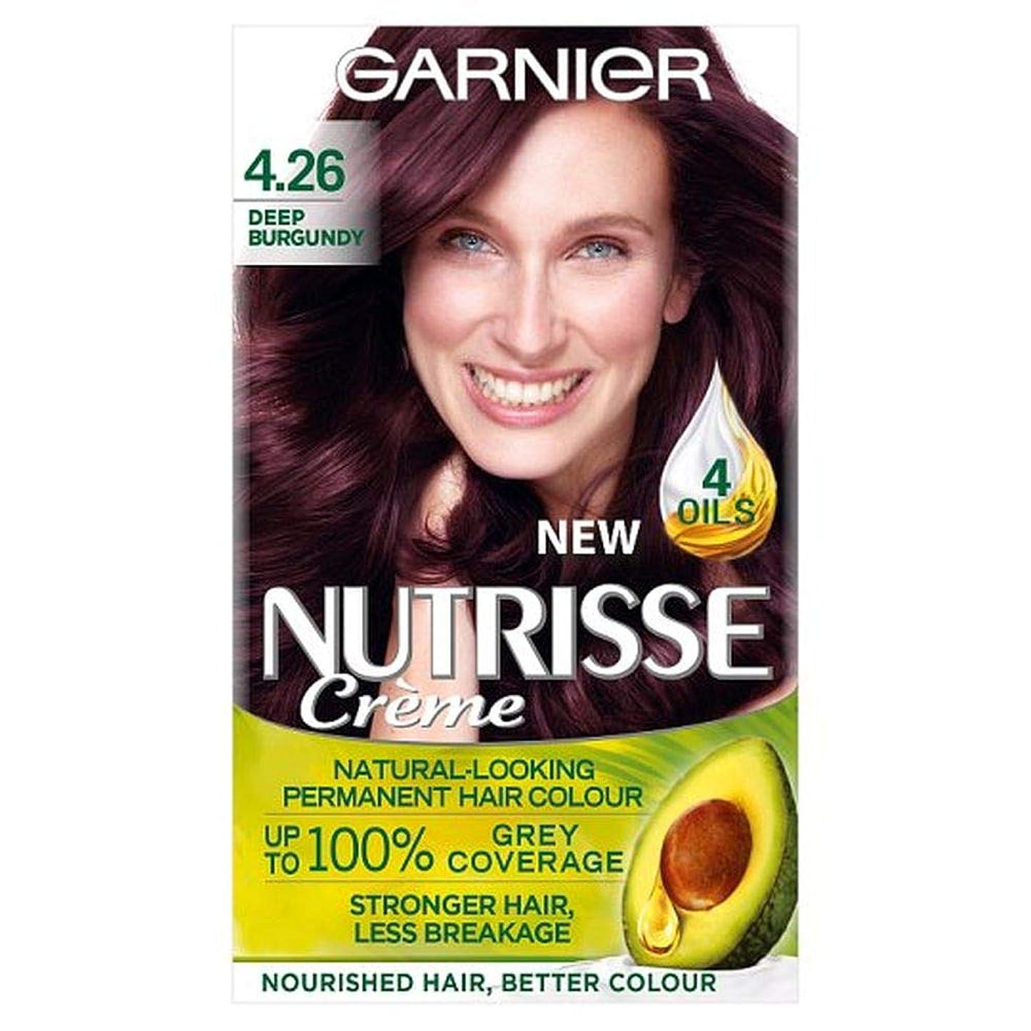 脱走矢じりうなずく[Nutrisse] ガルニエNutrisse 4.26深いBgndy赤いパーマネントヘアダイ - Garnier Nutrisse 4.26 Deep Bgndy Red Permanent Hair Dye [並行輸入品]