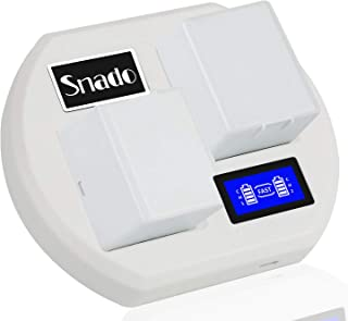 Charging Station Compatible Arlo Rechargable Batteries, Snado LCD Display Charger Compatible Arlo Security Light & Arlo Pr...