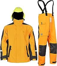Navis Marine Coastal Sailing Jacket with Bib Pants for Men Waterproof Breathable Rain Suit Fishing Foul Weather Gear