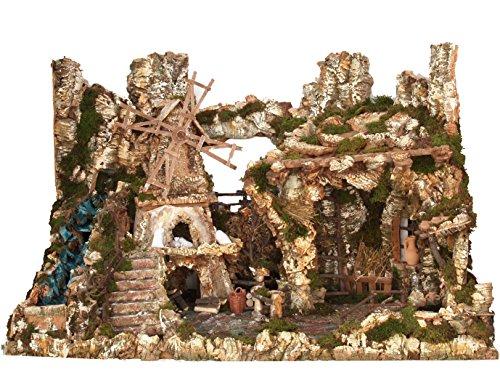 BERTONI Riesiges Diorama Dorf, Holz, leer, Mehrfarbig, Einheitsgröße